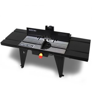 XtremepowerUS Deluxe Bench Top Aluminum Router Table