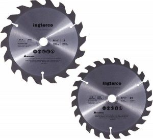 INGTERCO-18-Tooth-and-24-Tooth-ATB-Thin-Kerf-General-Purpose-6-12-Inch-Woodworking-Saw-Blade